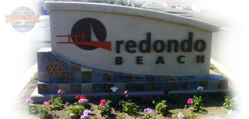 REDONDO BEACH MONUMENT SIGN